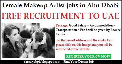 Female Makeup Artist jobs in Abu Dhabi