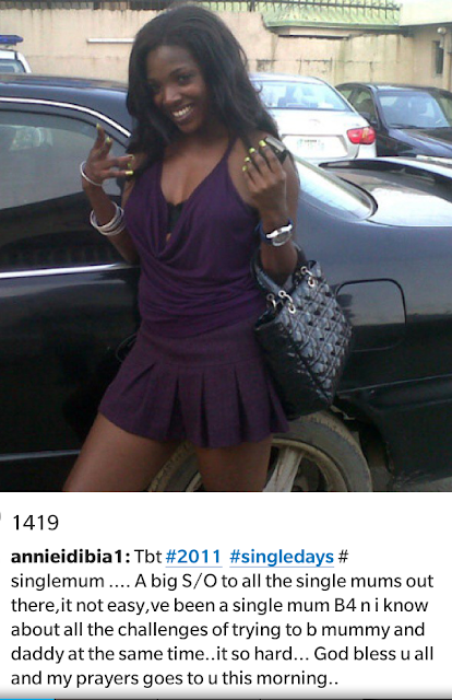 Annie Idibia's heartwarming message to single mums