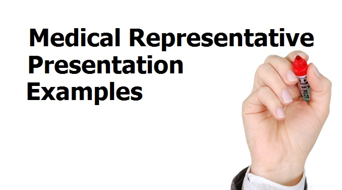 Medical representative presentation examples