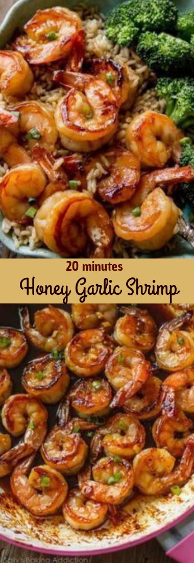 20 Minute Honey Garlic Shrimp #dinner #recipe
