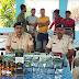 पुलिस को मिली सफलता: 684 बोतल विदेशी शराब के साथ 5 शराब कारोबारी गिरफ्तार