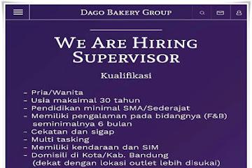 Lowongan Kerja Supervisor Dago Bakery