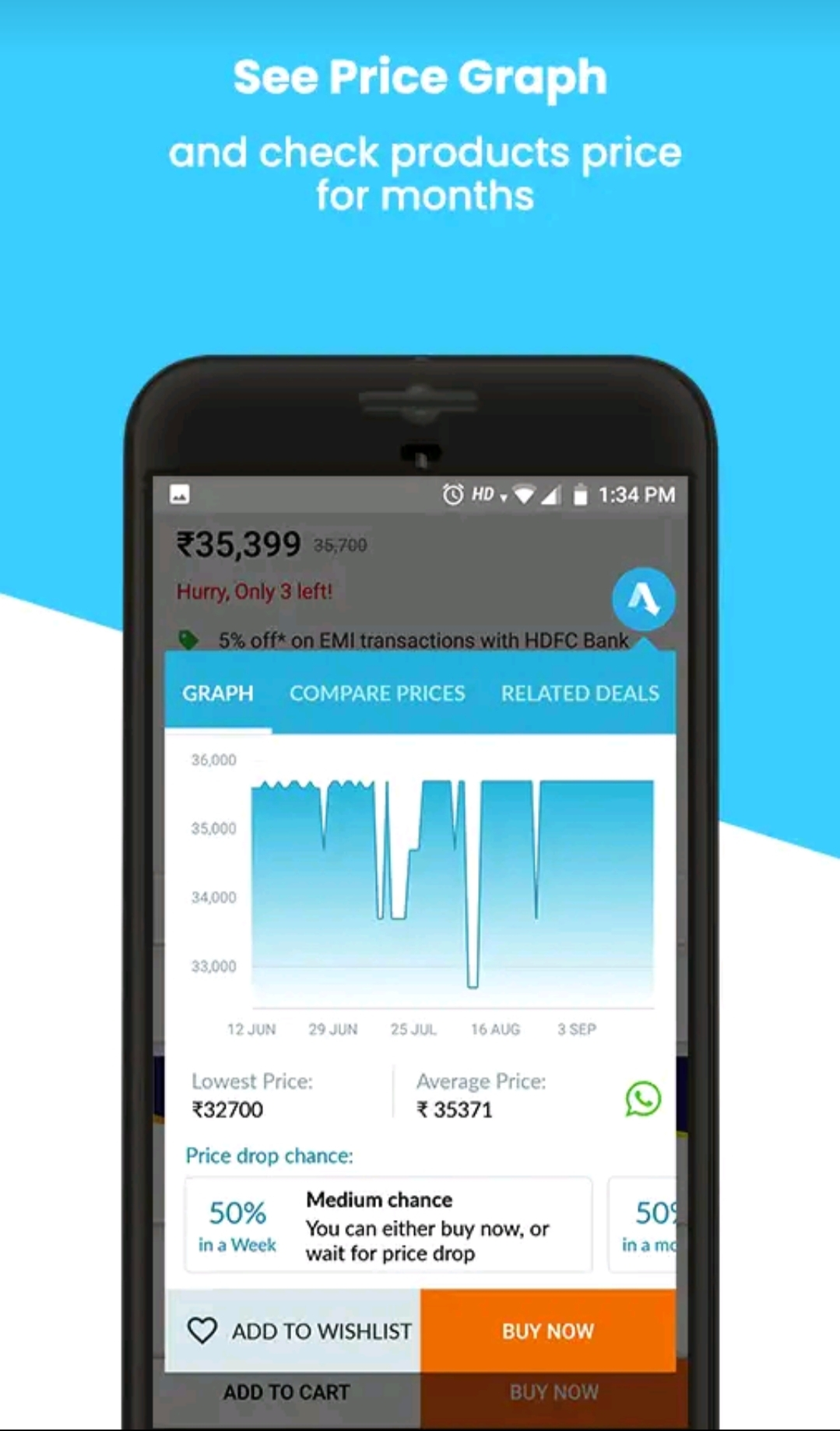 Buyhatke Online Shopping Assistant App for  Price alert, history and offers
