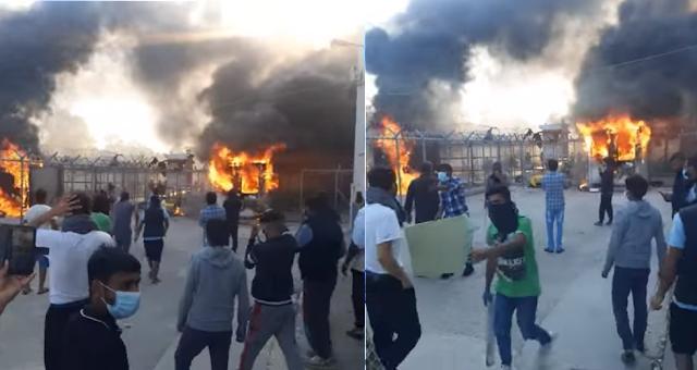 Ένταση με φωτιές μετά την αυτοκτονία πρόσφυγα στο Κέντρο Κράτησης Κορίνθου (βίντεο)