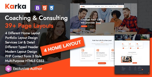 Karka - Training Coaching Consulting Free Download Nulled