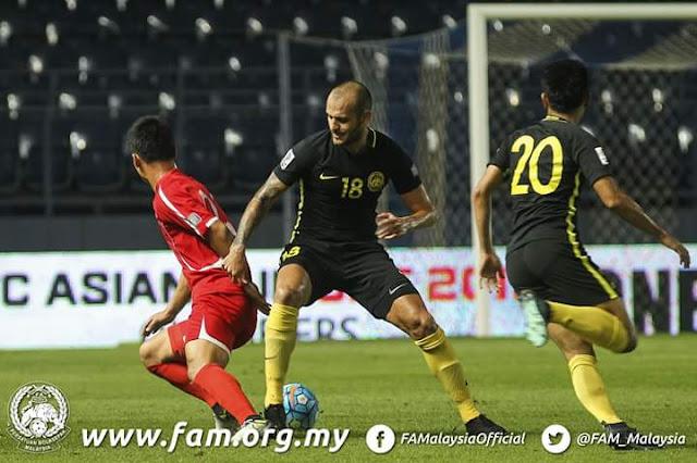 Harimau Malaya Mudah Dijinakkan Pasukan Korea Utara Tewas 4-1, Peluang Tipis Ke Piala Asia 2019
