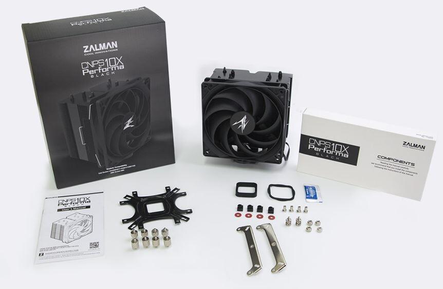 Zalman CNPS10X Performa Black - ambalaj ve içindekiler