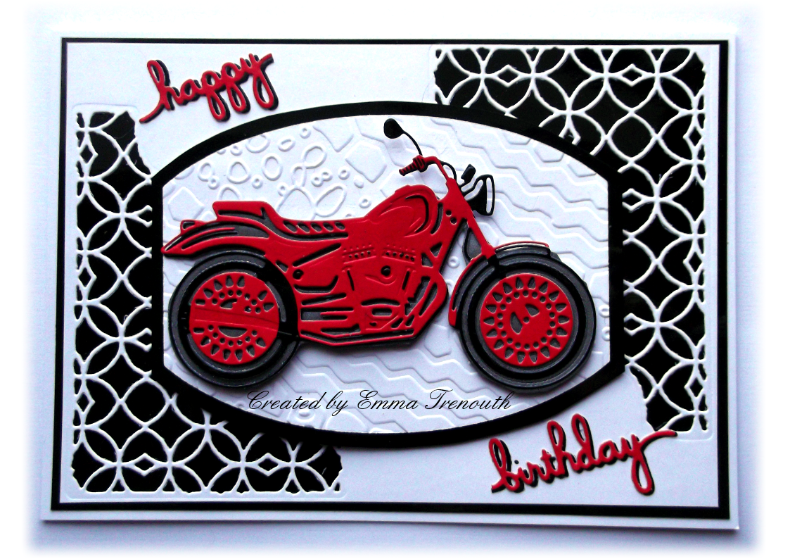 Trenouths Crafty Creations Motorbike male birthday card – Male Birthday Cards
