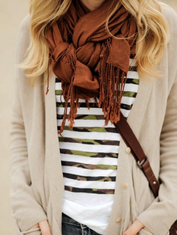 Schal binden - mal ganz anders geflochtener Knoten