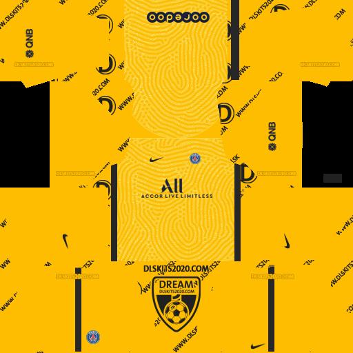 paris saint germain (PSG) Kits 2020-2021 Nike For Dream League Soccer 2019 (Home Goalkeeper)