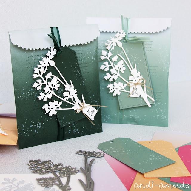 Stampin Up Ombré-Geschenktüten Produktpaket Wiesenruhe