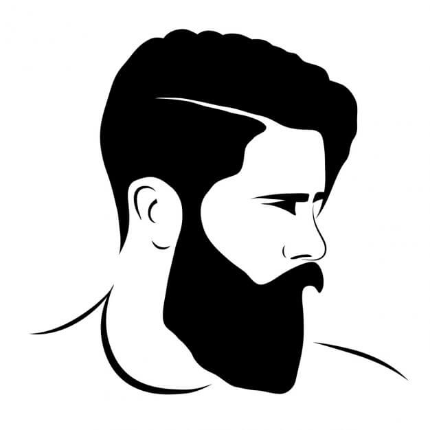 Stylish, handsome boy face drawing with beard Whatsapp Profile Picture, DP, Images Download
