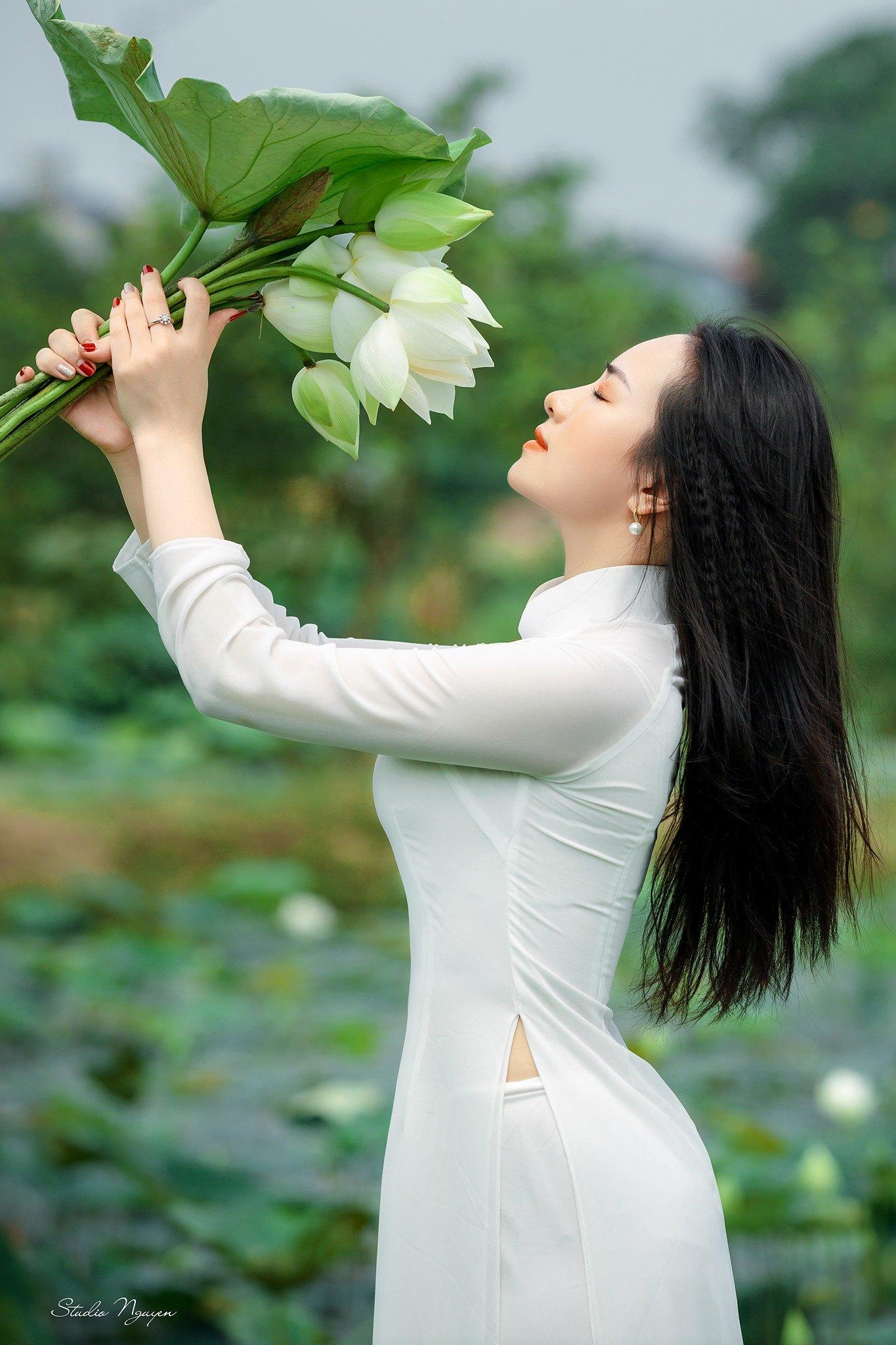 Tuyển tập girl xinh gái đẹp Việt Nam mặc áo dài đẹp mê hồn #57 - 7
