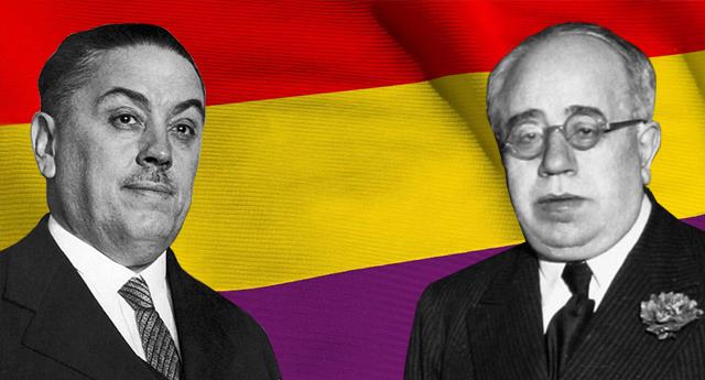 Martínez Barrio y Manuel Azaña