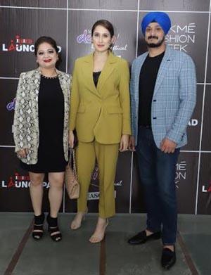 Avneet Grover, Centre Director INIFD West Delhi, Bollywood Actress Sagarika Ghatge and Jatin Grover