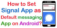 how to set signal as default messaging app on android