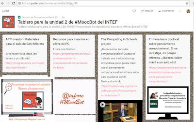 #estoyenlasredes, #hoaprencjoenxarxa, , #MoocBot, Ho aprenc Jo, hoaprencjo, pensamiento computacional, historia, Pensamiento computacional educativo , GESTIONA LA INFORMACIÓN, Padlet