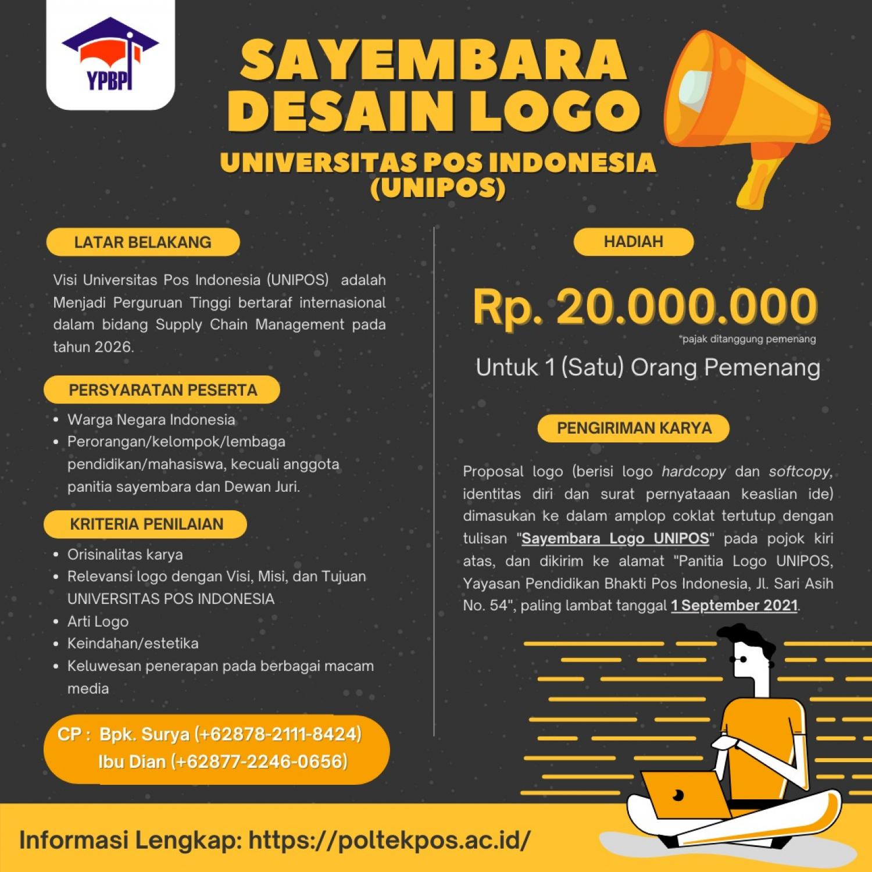 Lomba Desain Logo Berhadiah 20 Juta oleh Universitas Pos Indonesia (UNIPOS)