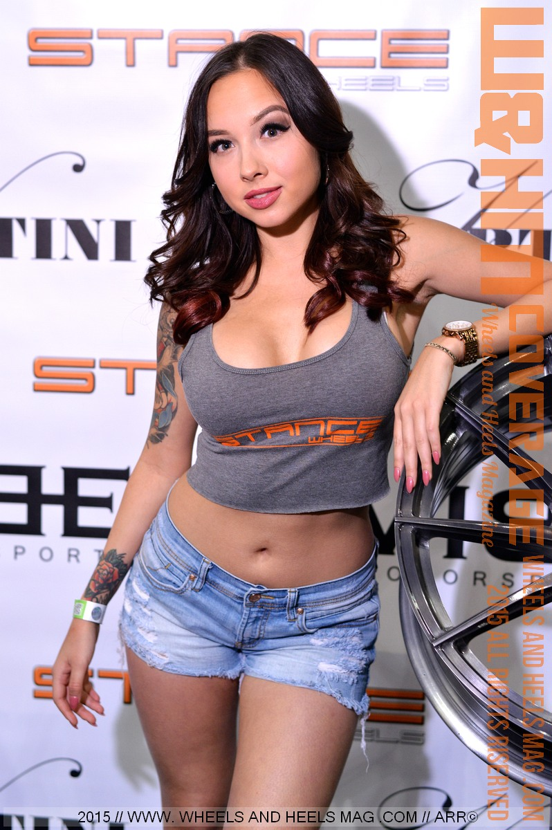 Wheels and Heels Magazine Cover Model Brittani Paige in Stance Wheels Grey Top