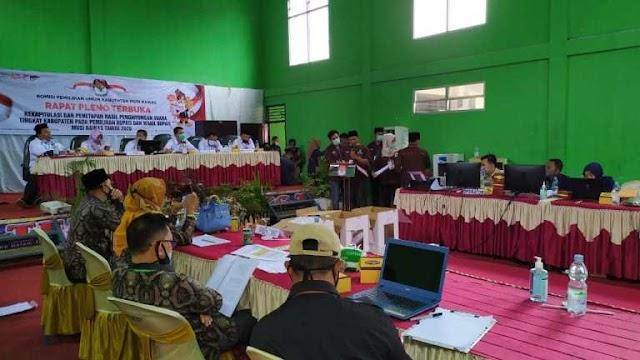 Pleno KPU Tetapkan Ramah-Berarti  Pemenang Pilkada Musirawas , Kubu Lawan Tolak Tanda Tangan