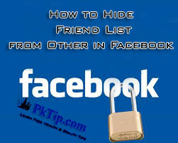 How to Hide Friend List from Other in Facebook