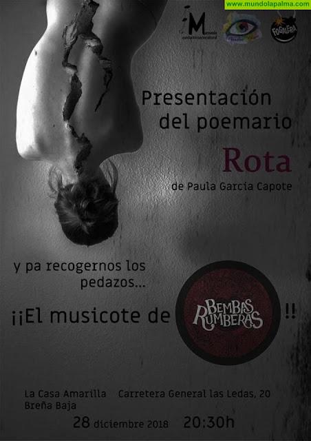 """Presentación del poemario """"Rota"""" de Paula García Capote"""