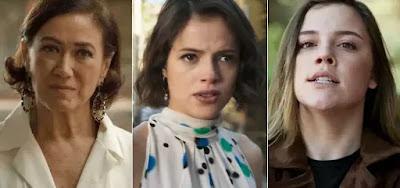 Valentina (Lilia Cabral), Josiane (Agatha Moreira) e Dalila (Alice Wegmann)