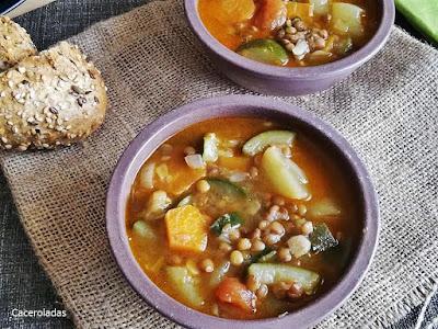 Como preparar lentejas con verduras