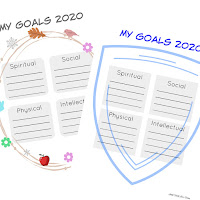 Free goal setting printables from Simply Family Home Evening - color