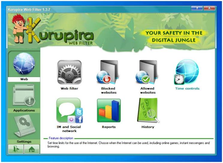 Kurupira :  Αποκλείστε  ιστότοπους με ανεπιθύμητο περιεχόμενο