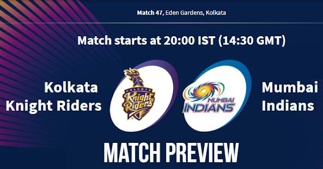 VIVO IPL 2019 Match 47 KKR vs MI Match Prediction, Probable Playing XI: Who Will Win?