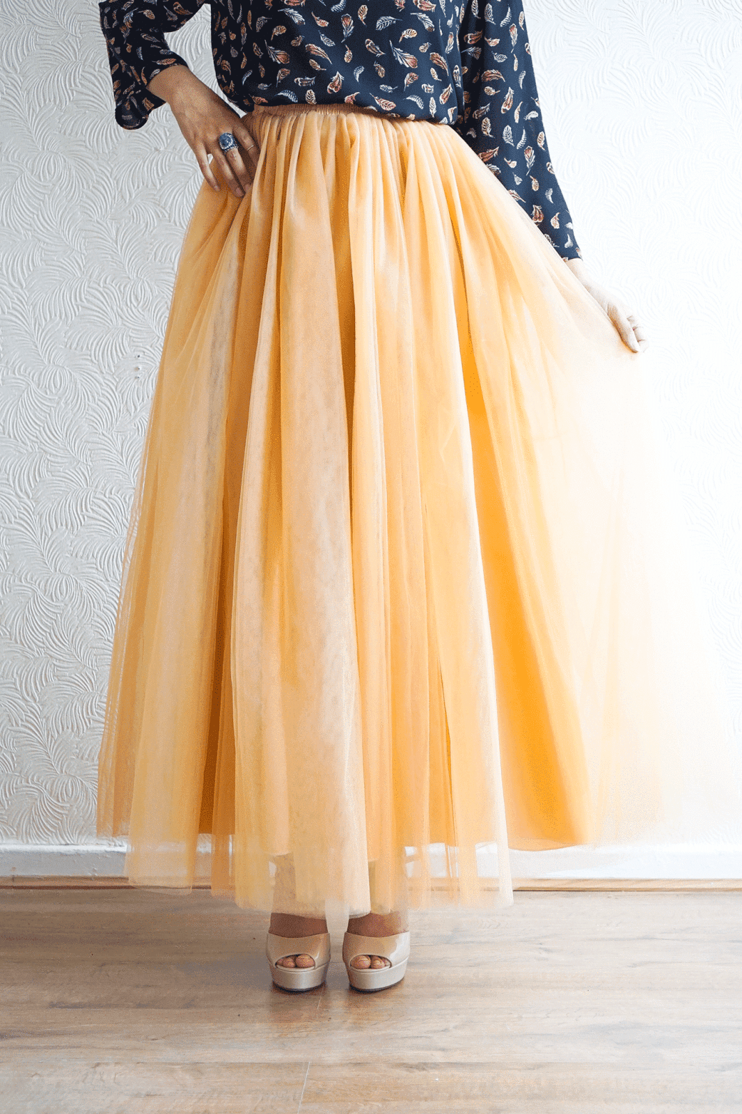 Stay Golden Tulle Skirt