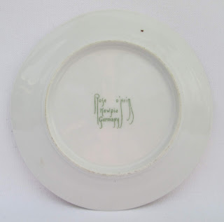 kewpie germany abc plate back mark view