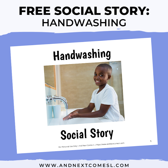 Free printable social story about washing hands