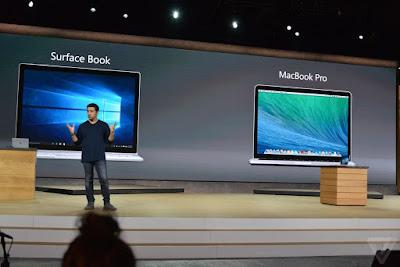 conferencia de microsoft presentan surface book y macbook pro