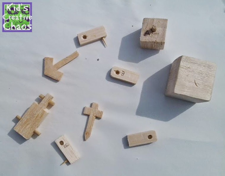 Minecraft style Balsa wood cube man puzzle kit. Feel free to call him Steve.