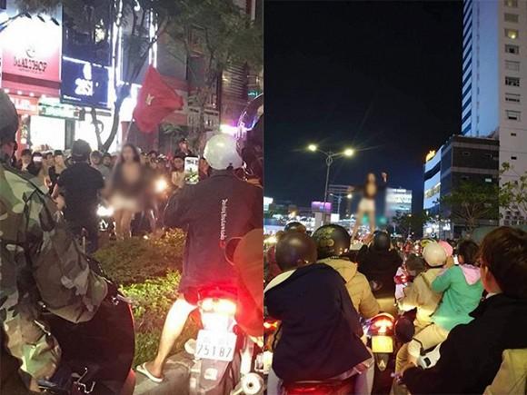 Clip gái xinh lột đồ quẩy trên phố ăn mừng Việt Nam vô địch SEA Games gây bức xúc