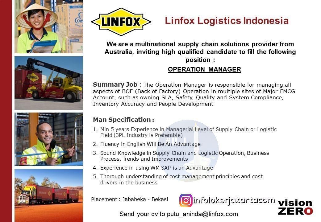 Lowongan Kerja Linfox Logistics Indonesia November 2018
