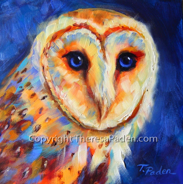 Daily Painters Abstract Colorful Barn Owl