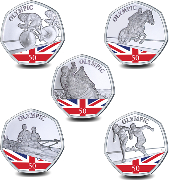 Gibraltar 50 pence 2021 - Summer Olympic Games (coloured)