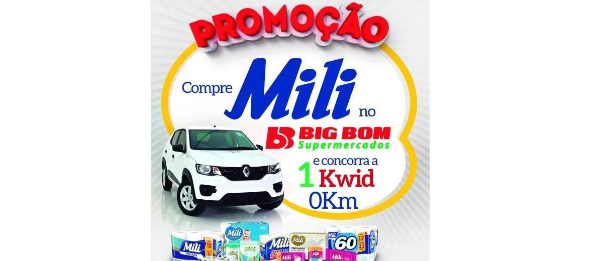 Promoção Big Bom e Mili Concorra Carro 0km Renault Kwid - Supermercados