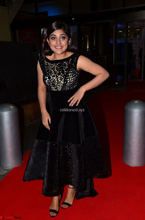 Niveda Thomas Black Sleeveless Cute Dress at 64th Jio Filmfare Awards South 2017 ~  Exclusive 058.JPG