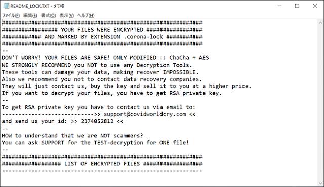 CORONA-LOCK (Ransomware)