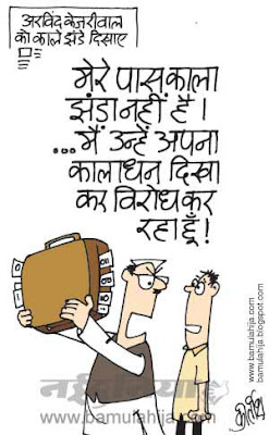 arvind kejriwal cartoon, India against corruption, black money cartoon, indian political cartoon, corruption in india