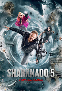 Sharknado 5: Voracidade Global - BDRip Dual Áudio