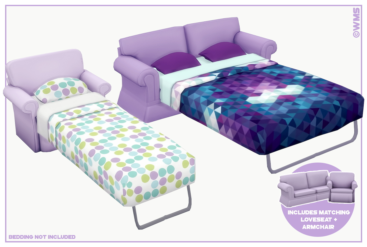 Sims 4 Dylan Sofa Beds Dylan Sofa Bed | Wildlyminiaturesandwich