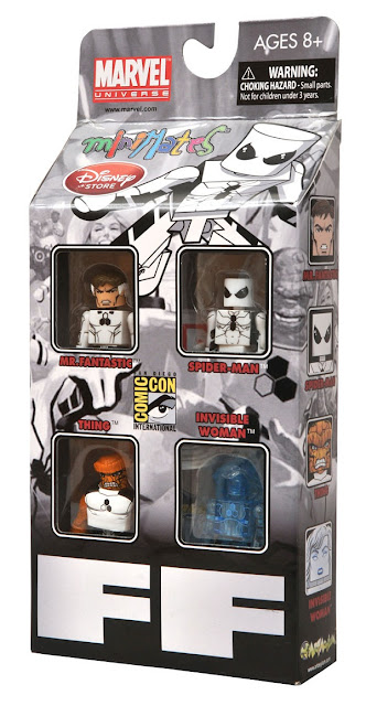 San Diego Comic-Con 2011/Disney Store Exclusive FF Minimates Box Set Packaging - Future Foundation Members Mr. Fantastic, The Thing, Spider-Man & Invisible Woman
