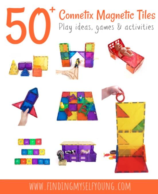 50 connetix magnetic tile play ideas