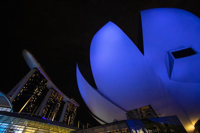 Art Science museum e Marina bay Sands-Singapore