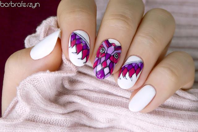 geometryczne paznokcie
